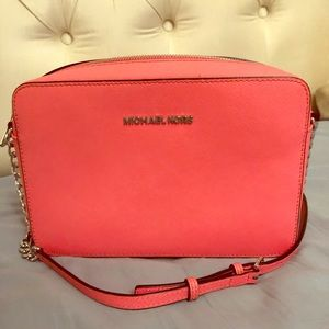 Michael Kors Coral Camera Crossbody Bag